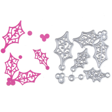 Christmas Decor Set Metal Stencil Embossing Cutting Dies 3D DIY Scrapbooking Craft Photo Invitation Cards Decoration 73*68mm