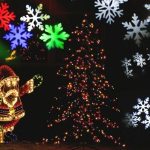 SXZM Outdoor Laser Christmas LED Lights Waterproof Snowflake Landscape Projector for Garden, Lawn and Holiday Decoration(China)