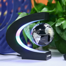 Antigravity C Shape LED Floating Globe Magnetic Levitation Tellurion World Map Home Office Desk Decor Gifts US/UK/EU/AK Plug
