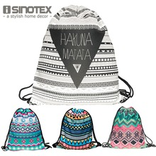 3D Printed Fashion New Women Geometric Pattern Drawstring Bag Storage Bag 30*39cm/11.8*15.4'' 1PCS/Lot(China)