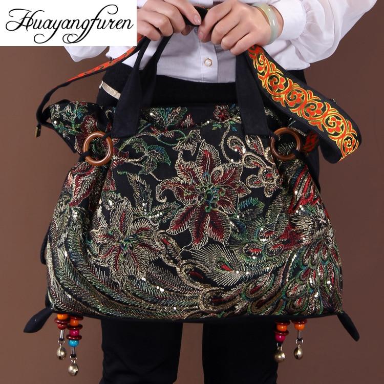 2018 new canvas embroidered women bag national characteristics single messenger bag womens fashion leisure bag crossbody bag<br>