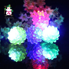Christmas toy luminous color led finger lights flash ring strawberries(China)
