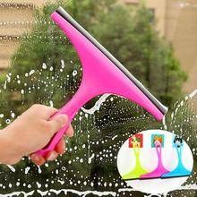 1PC Magic Window Glass Wiper Scraper Blade Squeegee Cleaner Mirror Wash Clean Brush Home Bathroom Car Windows Cleaning Tools A35(China)