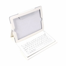 2 in 1 USB Bluetooth Keyboard + Folding Leather Protective Case Stand PU Leather Case Cover For iPad 2 3 4
