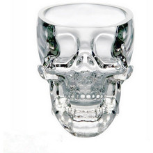 New fashion 73ml Crystal Skull Head Vodka Shot Glass Cup Search Home Bar Glass Cup Mug Beer Wine Glass (Transparent)