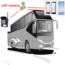 Iphone Android Phone WIFI Camera for Truck / Bus Rear View Monitoring with 28LED Night Vision Waterproof 120 Degree Cam