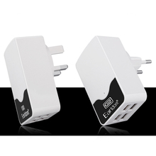 High Quality 5 V 4.4 A Power Port 4 USB Adapter Mobile Phone Charger for EU UK Wall Charging Universal USB Smart Fast Charging(China)