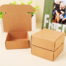 2015 Natural Kraft paper gift box for wedding,birthday and Christmas party gift ideas,good quality for cookie/candy,28 styles(China)