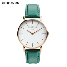 CHRONOS new arrival wrist watch best design women and men's quartz watch rose gold Relogio Masculino Femme
