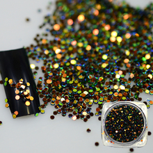 New 1Bottle 2g Mixed Deep Color Round Nail Art Decoration Tips Sparkly Glitter Nail DIY 3D Shining Paillette BEY05(China)
