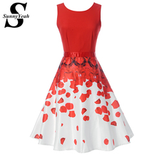 Buy Vestidos Red Summer Women Dress Elegant Ladies Sexy Party Dresses Plus Size Women Clothing Midi Casual Floral Dress Robe Jurken for $15.95 in AliExpress store