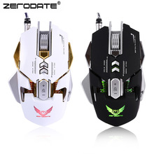 ZERODATE X300 Universal USB Wired Game Gaming Mouse 3200 DPI Computer Mouses Use For Laptop Desktop Computer Free Shipping