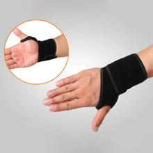 Sports Wrist Brace, Fitted Right / Left Thumb Stabilizer Sport Safety Wrist Support Gym Training Wrist Straps with 1pc a lot(China)