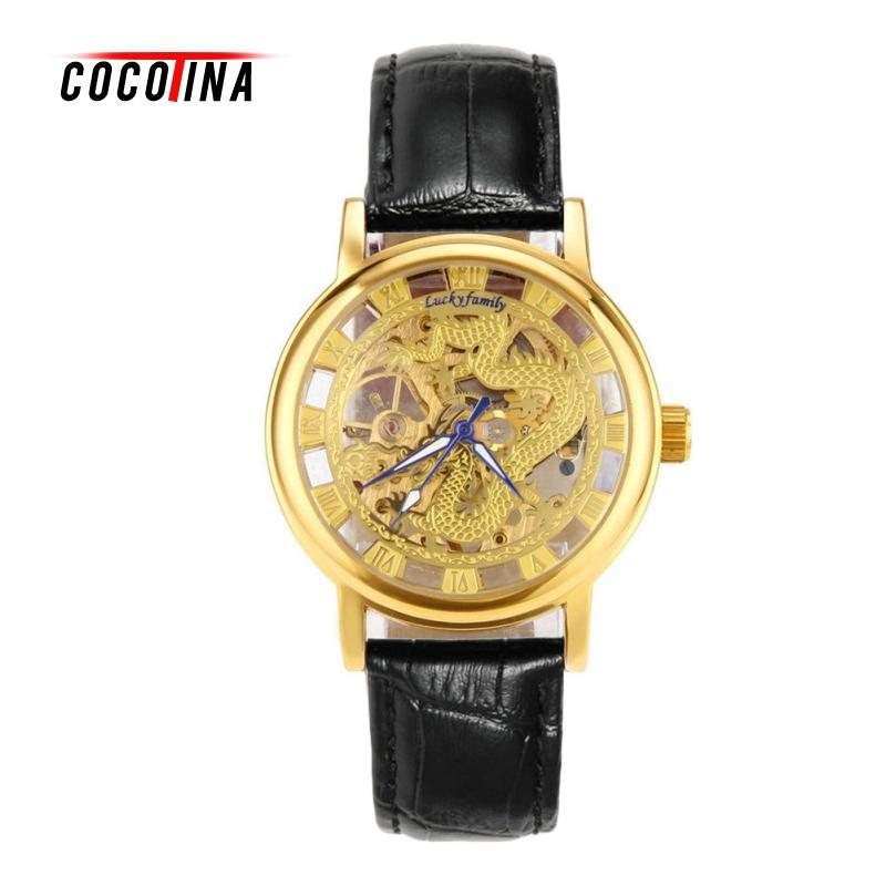 COCOTINA Luxury Men Women Lovers Watch Fashion Leather Strap Automatic Mechanical Couple Watches LJX9103<br>