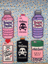 NEW 3D Boys Tears Mineral Water Love Potion Chill Pills Bottle poison Case For iPhone 5 5S & SE & 6 6S Plus & 7 7 Plus