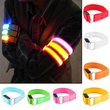 LED Arm Bands Lighting Armbands Leg Safety Bands for Cycling Skating Party Shooting Night Skating Wristband 7 Colors Wholesale(China)