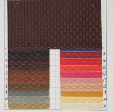 Braided pattern textile leather / fabric leather meter/ holographic leather/ whole sale fabric.furniture textile in fabric