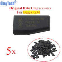 OkeyTech 5pcs/lot Car Key Chip ID46 Chip for GM For Buick Auto Transponder Chip PCF7936AA Crypto Lock Carbon PCF7936AS Upgraded(China)