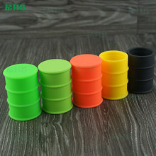 FDA approval silicone oil barrel drum container 26ml large silicone dab jar 100pcs free shipping