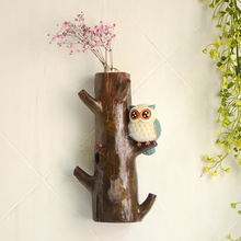 Free Shipping! Pastoral Vintage Style Owl on Sticks Resin Wall Hook Decorative Wall Hanger Home Decoration Kids Room Decor