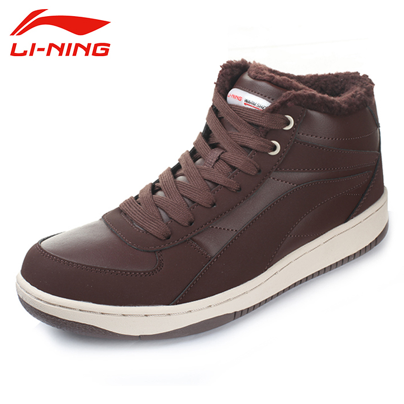LI-NING 2017 New Winter Outdoor Walking Shoes Men Lace Up Leather Warm Plush Sneakers Sport Shoes Sapatilhas ALCH095 XMR1061<br><br>Aliexpress
