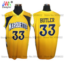 2017 Men Dwayne Vintage Jimmy Butler #33 Throwback College Marquette Golden Eagles Basketball Jersey Retro Shirts For Mens(China)