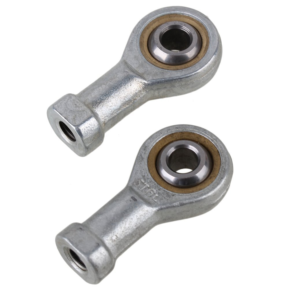 Silver High Precise 6mm Female Metric Left Hand Self Lubrication Threaded Rod End Joint Bearing Pack 2