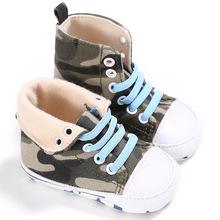 2017 Cute Star High Top Baby Fashion Sneakers Fashion Unisex Toddler Shoes First Walkers(China)