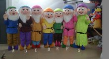 Seven dwarfs(1/7,only one) Cartoon Character Costume cosplay mascot Custom Products custom-made(s.m.l.xl.xxl) free shipping