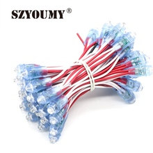 SZYOUMY 500pcs/Lot Super Bright LED Module RGB LED Pixel Module Light DC 5V Waterproof Diffused Digital String Punctiform Lamp(China)