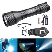 ORCATORCH New D550 Waterproof Diving Flashlight 970 Lumens XM-L2 U4 LED with O-Ring and Hand Rope for Professional Diving(China)