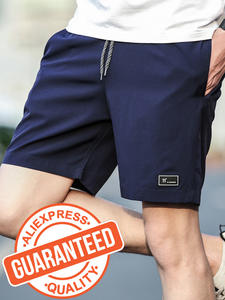 Casual Shorts Elastic-Waist Waterproof Men Summer Board Breathable Fashion 4XL Solid
