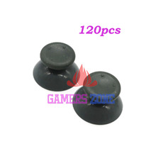 120PCS Grey Black Game Rubber Thumbstick Button Joystick Cap for XBox 360 Controller(China)