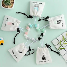 Cute Plants Natural Stereo Earphone Earbuds in ear Ear Phones With Mic Earphone bag for iPhone Samsung Xiaomi Kids Girls gift(China)