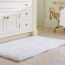 "Lifewit 20"" x 32"" Soft Shaggy Bath Mat Non-slip Rubber Bathroom Rug Floor Mats Water Absorbent White(China)"
