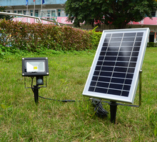 10w floodlight IP 65 all in one solar street light with motion sensor and with 6V*6W solar panel free shipping