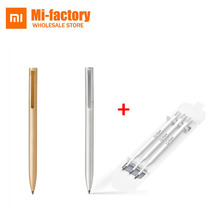 Original Xiaomi Mijia Metal Signing Pen Ink Japan Durable Signing Pen PREMEC Smooth Switzerland MiKuni Black Refill Gold Silver