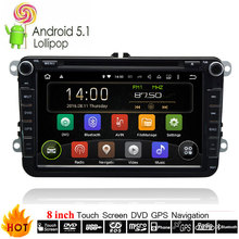 Automotive 8 inch Volkswagen 2 Din Multimedia Android 7.1.1 OS Car DVD Player With GPS Navigation System Radio Stereo Head Unit