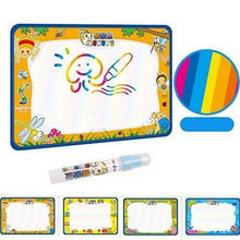 50x30cm Newly Kids Drawing Toys Baby Add Water With Magic Pen Doodle Painting Picture Water Play Mat In Drawing Toys Board(China)