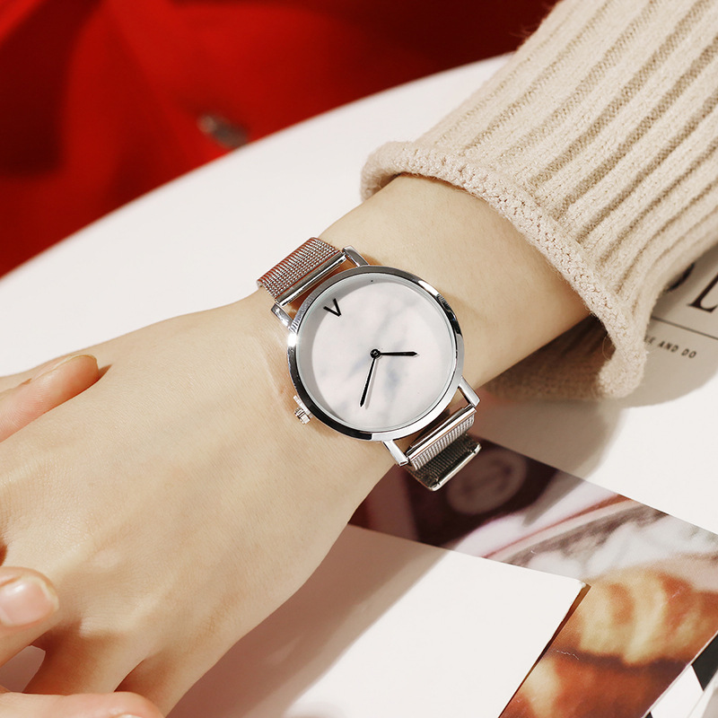 hot fashion womens watches creative marble pattern dial quartz wrist watches free shipping (8)