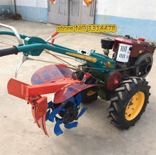 Farm Tractor With Cultivator 0.5 ton Tipper-Hopper 10/12/15 HP Walking Tractor(China)
