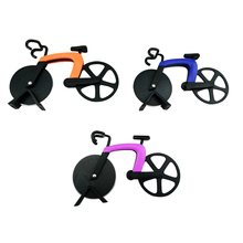 Bicycle Pizza Cutter Stainless Steel Bike Pizza Cutter Creative Cooking Tools(China)
