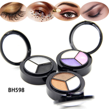 1pcs Smoky Matte Eyeshadow Mixed Color Baking Powder Eye Shadow Palette Nude Glitter Cosmetic Set eye makeup
