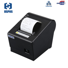 Qualily pos 58mm thermal receipt printer with auto cutter usb and lan port high printing speed with one year warranty(China)