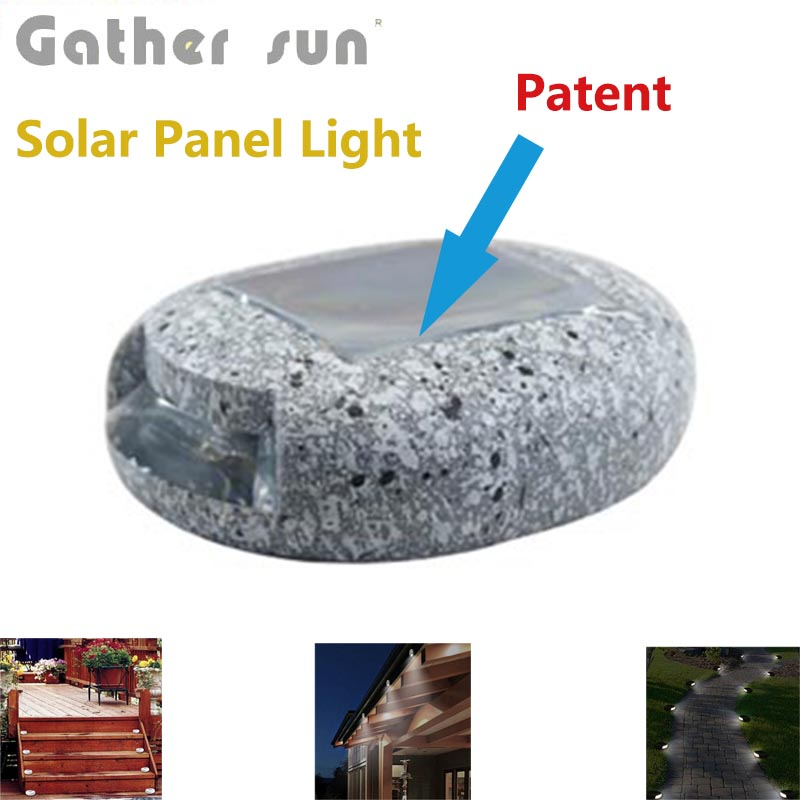 4PCS/Lot Solar Path Lights LED Pathway Landscape High Quality Colophony Fake Stone Lamp For Garden Night Light IP44 Waterproof(China (Mainland))