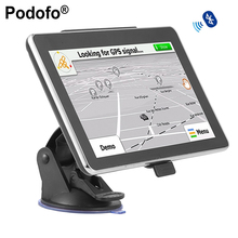 "Podofo 7"" Touch Screen Portable Vehicle Car GPS Navigation Navigator SAT NAV 4GB 8GB CE6 Bluetooth Handsfree"