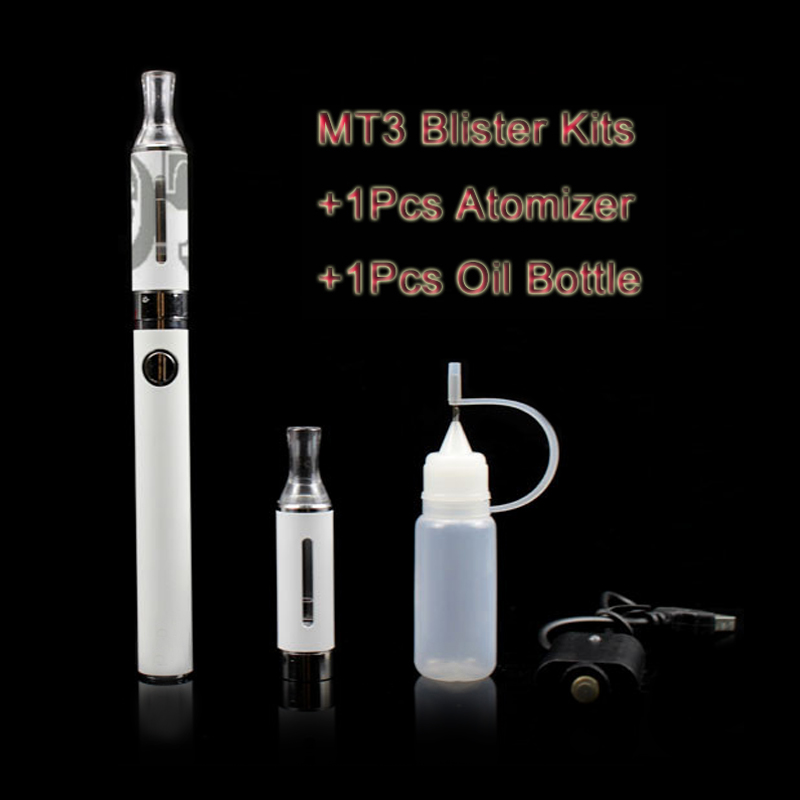 Pilot VAPE EGO MT3 Electronic Cigarette Blister Pack 650 900 1100mAh Rechargeable Battery EVOD  Atomizer Charger E Cig Kit