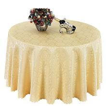 All size damask Jacquard Tablecloth Polyester Rectangular Round Wedding Party Hotel Decorations