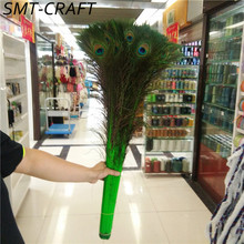 Wholesale 50 Pcs 70-80CM/28-32 Inch Peacock Feathers High Quality DIY decorative feathers Decoration Peacock Feather