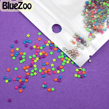 BlueZoo 1000pcs 2MM 4MM Colorful Neon Round Square Star Studs Heart Studs Metal Nail Art Decoration DIY Metallic 3D Acrylic